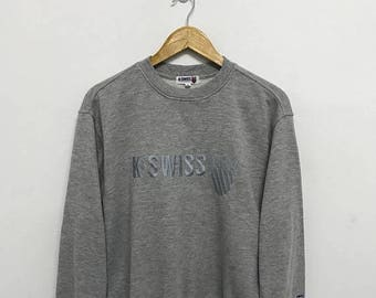 20% OFF Vintage K.Swiss Embroidery Big Logo Sweatshirt/K.Swiss Sportwear/K.Swiss Sweater