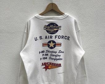 20% OFF Vintage Buzz Rickson's Lockheed U.S. Air Force Crewneck / Buzz Rickson's Clothing / Japanese Clothing