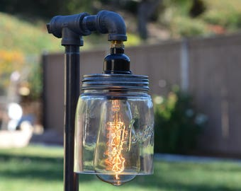 Industrial Mason Jar Edison Lamp