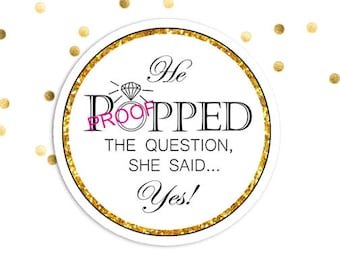 Effortless image throughout he popped the question printable