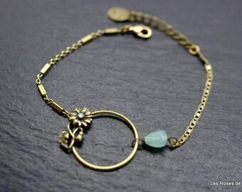 Bracelet art deco flower