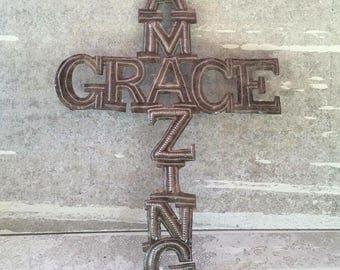 AMAZING GRACE Handmade Metal Sign