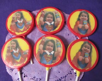 Custom Photo Personalize pictures chocolate lollipops