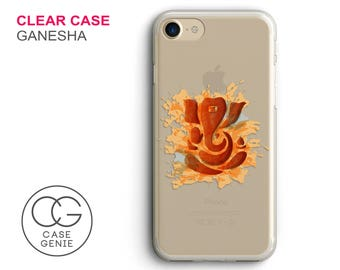 Ganesha Clear Phone Case for iPhone 7 Plus, 7, 6, 6s Cell Phone Cover Clear and Frosted Transparent Ganesh