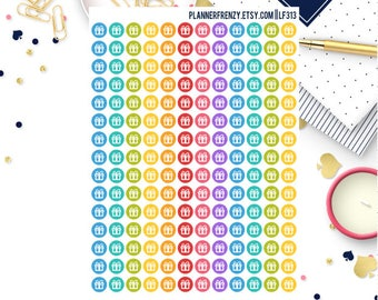 180 Tiny Present Icon Planner Stickers! LF313