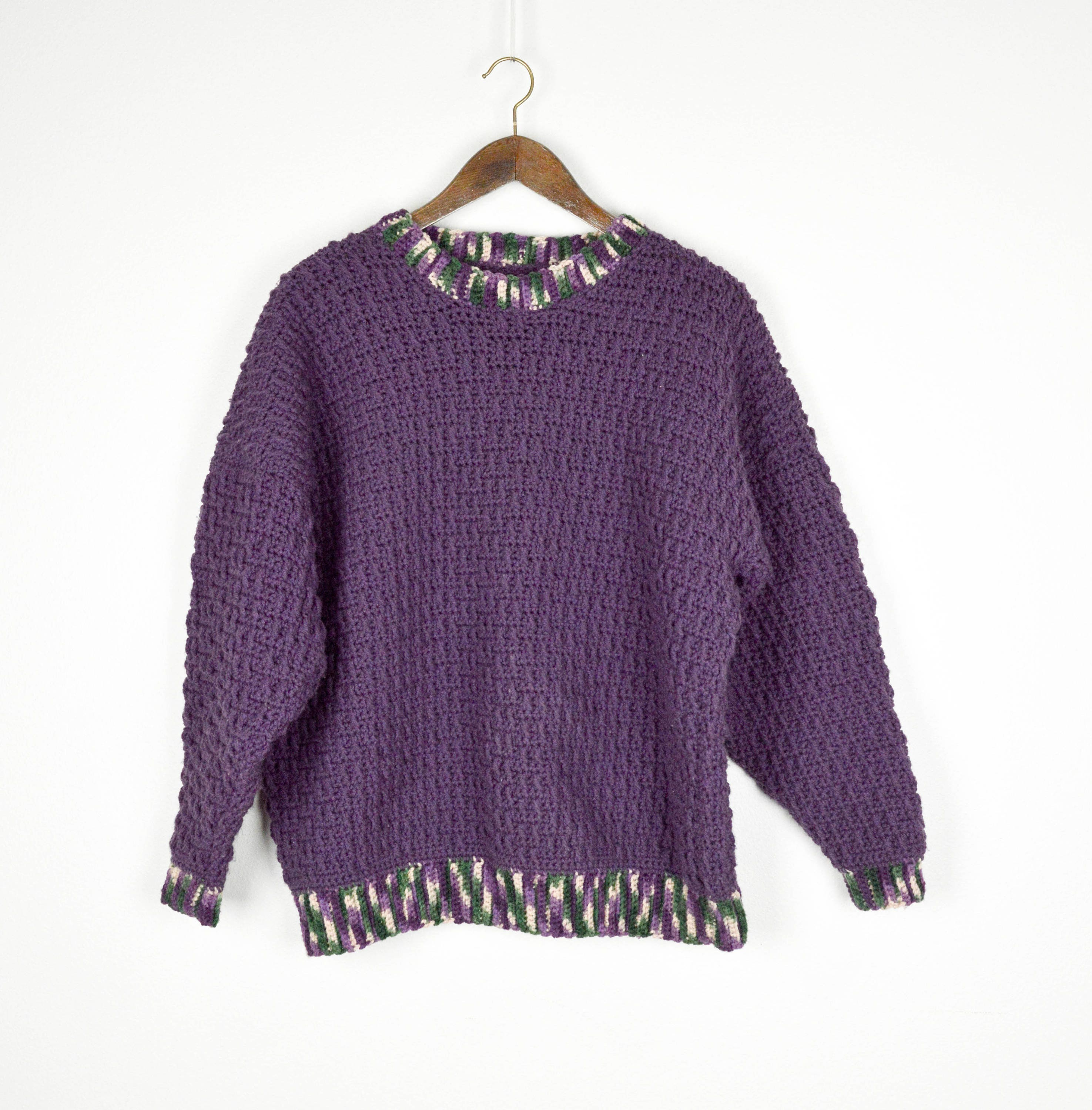 Vintage Hand Knit Sweater Chunky Knit Sweater Vintage