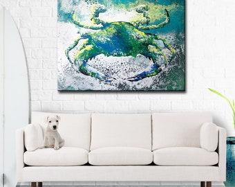 Blue Crab Abstract - Original Acrylic