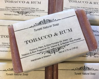 Tobacco & Rum Natural Homemade Soap, Handmade soap, Natural Soap, Cold Process Soap