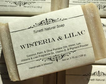 Wisteria & Lilac Natural Homemade Soap, Handmade soap, Natural Soap, Cold Process Soap