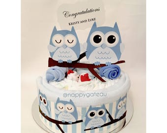 Owl you need is owl nappy cake