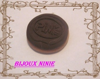 Biscuit pim's polymer clay handcrafted charm