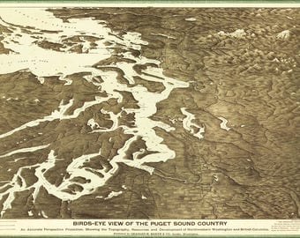 Poster, Many Sizes Available; Map Of Puget Sound Country Washington State 1891
