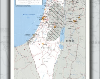 Poster, Many Sizes Available; Cia Map Of Israel 1988