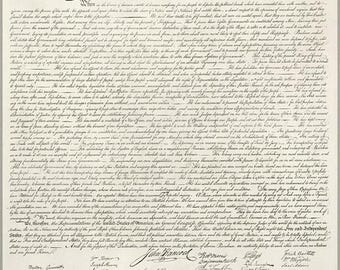 20% Off Sale - Poster, Many Sizes Available; Us Declaration Of Independece