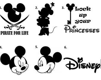 Disney Decal Etsy - Disney custom vinyl stickers