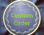 Custom baby hoop for Eva