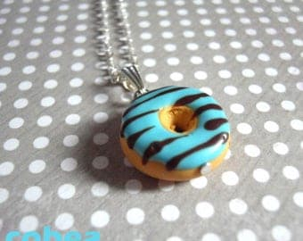 "necklace ""turquoise/chocolate donut"""