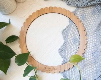 Grand rond en bambou tissage Loom - 29cm (11,4 pouces) de diamètre