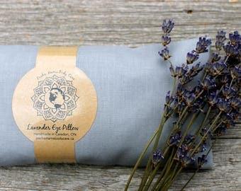 Lavender Eye Pillow Grey • Large • Relaxation • Meditation • Yoga  • Organic Body Care
