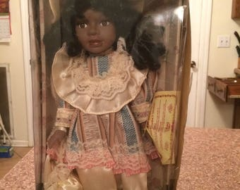 Rare Vtg limited edition Asian/African American collections choice Bisque porcelain