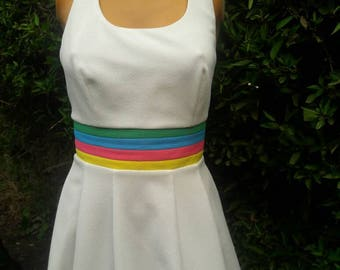 Vintage 1970s Head Brand Polyester Halter Tennis Dress