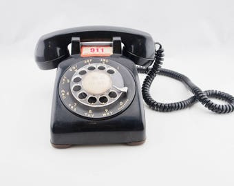 Vintage Rotary Telephone  Black