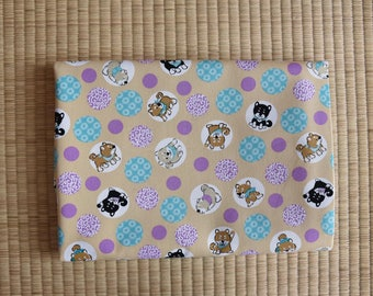 cotton japan shiba inu dog fabric 1/2 yard