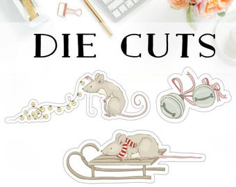 Christmas Mouse Die Cuts D002