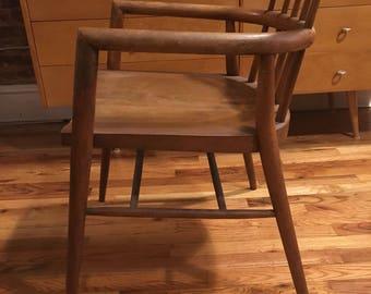 Rare Paul Mccobb planner group captain chair solid maple mid century modern vintage