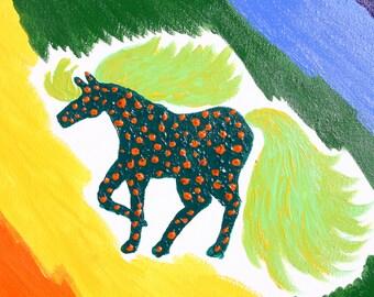 Rainbow Horse - Original Acrylic Painting