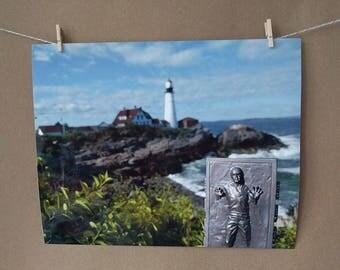 Han Solo Photo Print, Portland Head Light, Maine