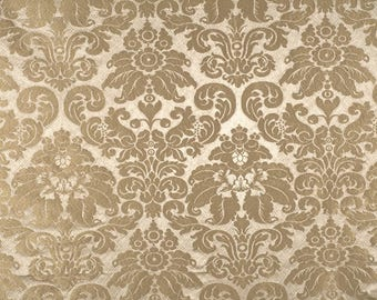 SCALAMANDRE LUCIA Gaufre SILK Damask Fabric 10 Yards Beige Dove