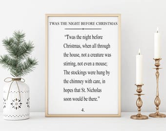 Twas The Nighr Before Christmas|Wood Sign