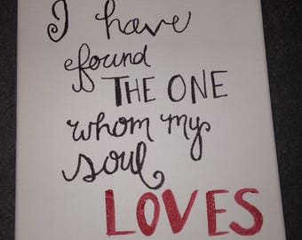 Song if Solomon 3:4 Canvas Painting