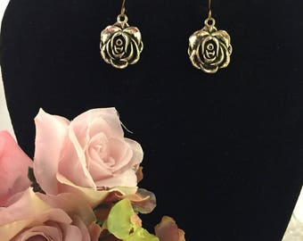 Mixed Metal Rosette Earrings