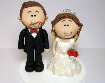 Bride And Groom  Wedding Cake Topper, Personalised, Custom made to order, wedding