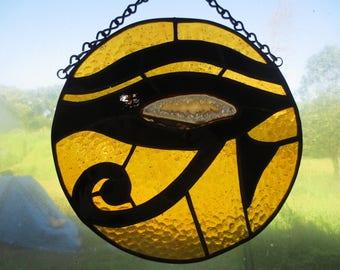 Eye of Horus Egyptian Spiritual Stained Glass Suncatcher
