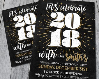 Celebrate NYE Party Invite (Digital)