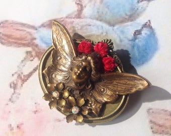 Large Angel brooch
