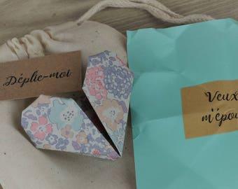 Marriage proposal, announcements, pregnancy, original ad, hidden message