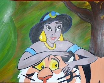 Art Original Art Disney Art Gift Customized Art Personalized Art Original Painting Art Wall Original Modern Art Disney Modern Art Fine Art