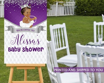 Baby Shower Welcome Sign, Welcome to the Party Sign, Little Princess Welcome Sign, Personalized Welcome Sign, Royal Princess Foam Board Sign