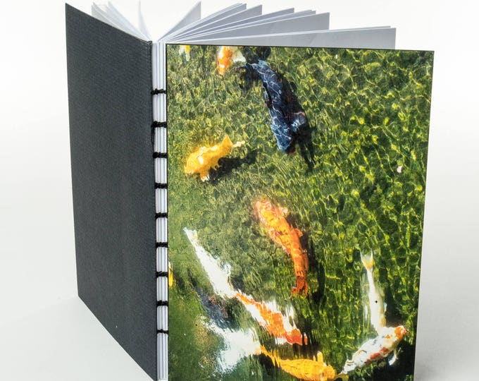 MAUI FISH POND | small handmade coptic bound blank book diary journal notebook original cover photo | aBoBoBook