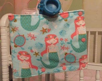 Mermaid Insulated Infinity Pump Bag Cover and Port Connection Cover-Insulated Ice Pack Bag-Feeding Tube-Tubie-GTube-Jtube