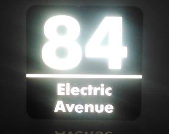 Custom Alumnium Square House Address Signs. Gold, Silver, White, Black, Reflective Options.