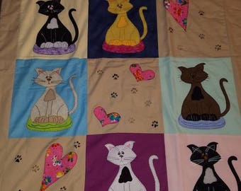 Handmade Lap Quilts, Cats, Birdhouses, cowboys, Red Hat Lady and Eagle.