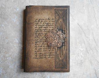 Notebook - ethnic sketchbook - journal - diary - gift for Traveler - calligraphy
