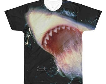 Great White Shark JAWS All-Over Printed T-Shirt