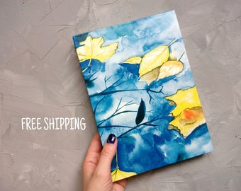 A5 journal notebook Lined notebook Personalize notebook Coptic Writing journal Large journal Lined journal