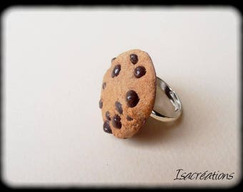 hand made chip cookie ring